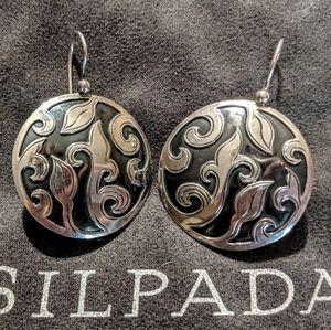 Silpada Silver Wave earrings.